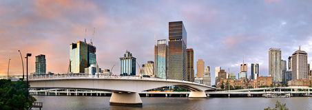 Panoramic - Brisbane City South Bank - Queensland Royalty Free Stock Images
