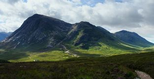 Panoramic Buachaille Etive Mor Stock Photo