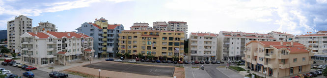 Panoramic buildings Royalty Free Stock Photo