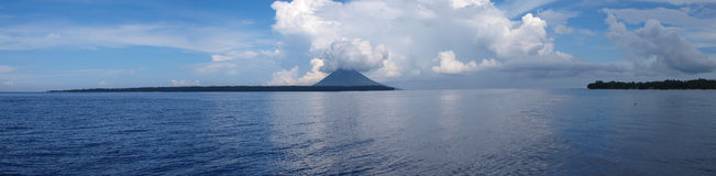 Panoramic of bunaken island Stock Images