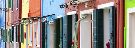 Panoramic Burano Royalty Free Stock Photography