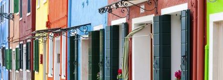 Panoramic Burano Royalty Free Stock Photography