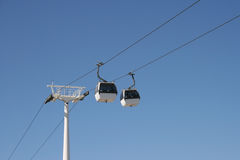 Panoramic cablecar Royalty Free Stock Photo