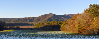 Panoramic of Cades Cove Royalty Free Stock Image