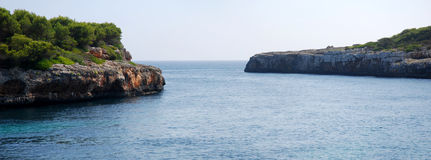 Panoramic Cala Sa Nau (Mallorca) Royalty Free Stock Images
