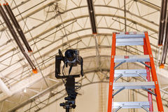 Panoramic Camera and Ladder Stock Images