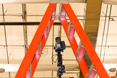 Panoramic Camera and Ladder Stock Photography