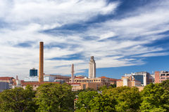 Panoramic of the campus of the University of Texas Stock Image