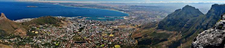 Panoramic cape town city Stock Photography