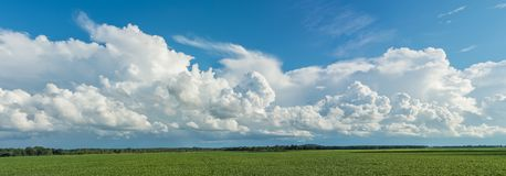 Cold Front Clouds Panorama Background. Stock Photography