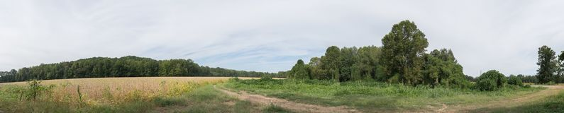 Rural North Mississippi Agricultural Landscape. Royalty Free Stock Photos