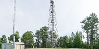 An Old Rural Fire Tower In North Mississippi. Stock Image