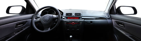 Panoramic car interior Stock Photos