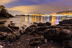 Panoramic of Castro in the night Stock Photography