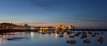 Panoramic of Castro Urdiales Royalty Free Stock Photos