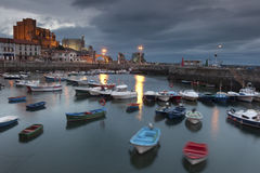 Panoramic of Castro Urdiales Stock Image
