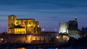 Panoramic of Castro Urdiales, Cantabria Royalty Free Stock Images
