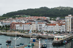 Panoramic of Castro Urdiales Stock Images