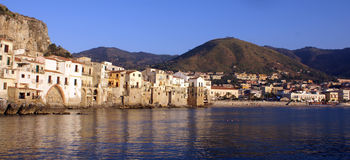 Panoramic Cefalu Sicily Royalty Free Stock Images