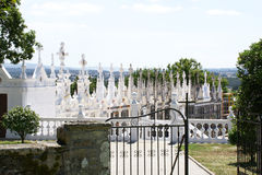 Panoramic of a cemetery Stock Photography
