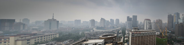 Panoramic Chengdu,China Royalty Free Stock Photo