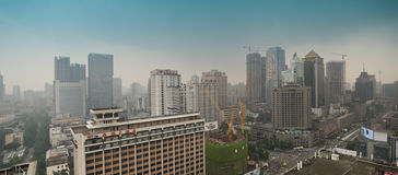 Panoramic Chengdu,China Stock Photos
