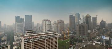 Panoramic Chengdu,China stock photos