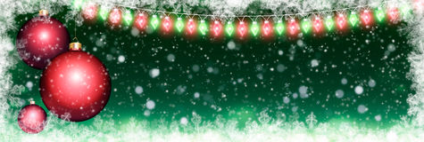 Panoramic Christmas background Royalty Free Stock Photo
