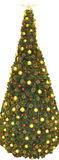Panoramic Christmas Tree. Panorama view of a huge Christmas tree Royalty Free Stock Photography