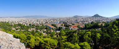 Panoramic citiscape view of Athens Stock Image