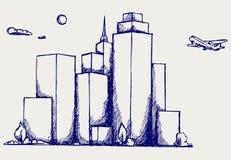Panoramic city Stock Photo