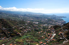 Panoramic city Funchal Royalty Free Stock Images