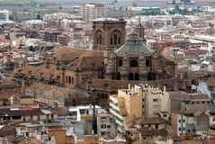 Panoramic city of Granada (Spain) Royalty Free Stock Photography