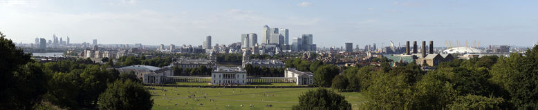 Panoramic City of London Royalty Free Stock Photos