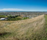 Panoramic City of Napier from Sugar Loaf stock images