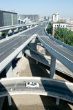 Panoramic city overpass Royalty Free Stock Photo