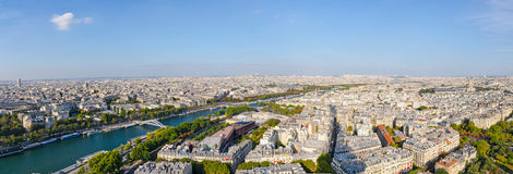 Panoramic of the city of Paris Royalty Free Stock Image