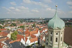 Panoramic city skyline in augsburg,Germany. Royalty Free Stock Image