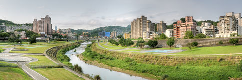 Panoramic cityscape Stock Photography