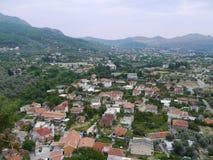 Panoramic cityscape of Bar, Montenegro. Mosque and panoramic cityscape of Bar, Montenegro Royalty Free Stock Photos