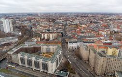 Panoramic cityscape of Berlin, Germany. Stock Images