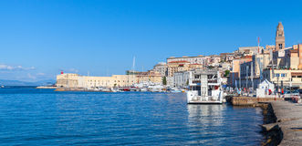 Panoramic cityscape of Gaeta town, Italy Royalty Free Stock Image