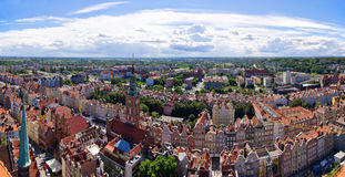 Panoramic cityscape of Gdansk, Poland Royalty Free Stock Photo