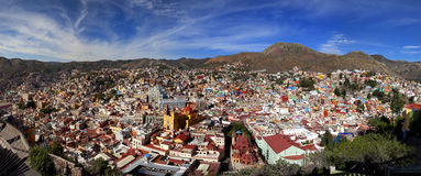 Panoramic cityscape of Guanajuato Mexico Stock Photo