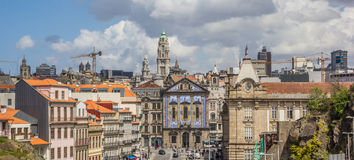 Panoramic cityscape of the historical center of Porto Stock Photos