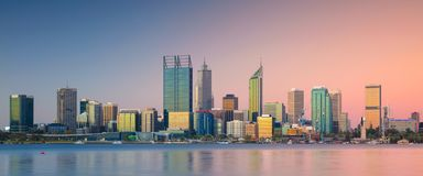 City of Perth. Royalty Free Stock Photos