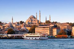 Panoramic Cityscape In Istanbul, Turkey Stock Photos