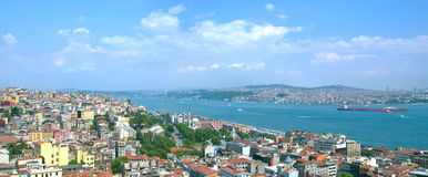Panoramic cityscape of Istanbul Stock Photos