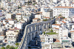 panoramic cityscape of Kavala,Greece from above royalty free stock images
