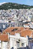 Panoramic cityscape of Kavala,Greece from above royalty free stock photo